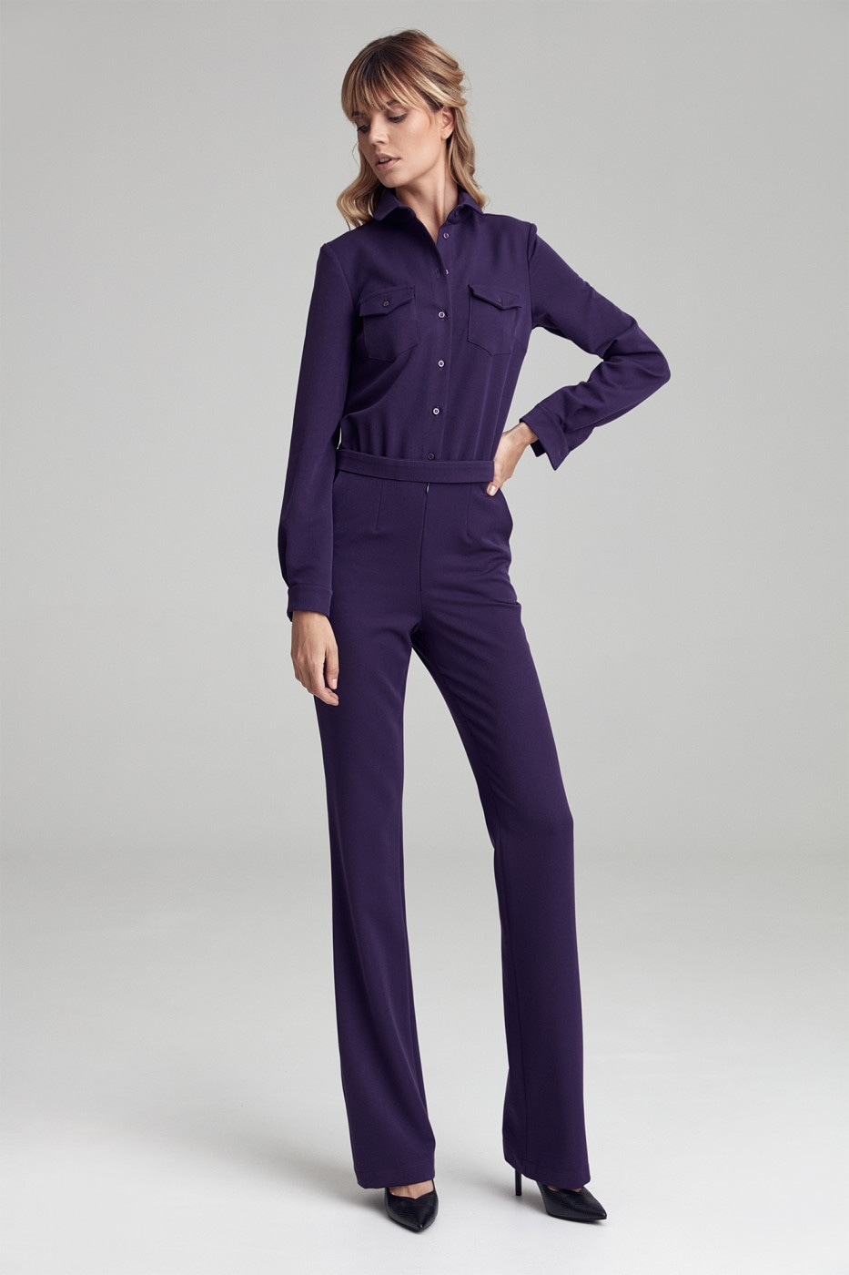 Colett Woman's Overall Ckm06 Violet