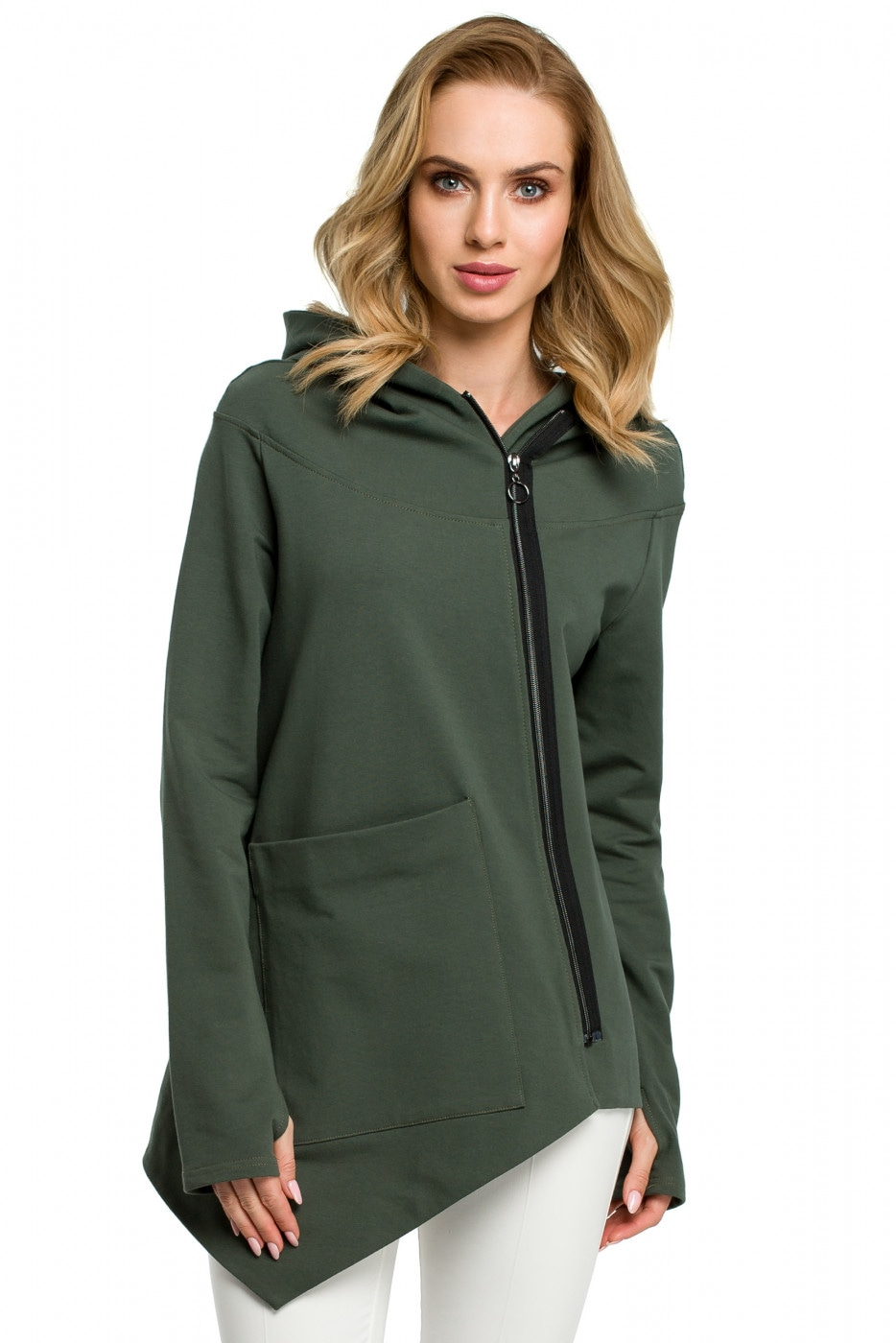 Made Of Emotion Woman's Sweatshirt M390 Military