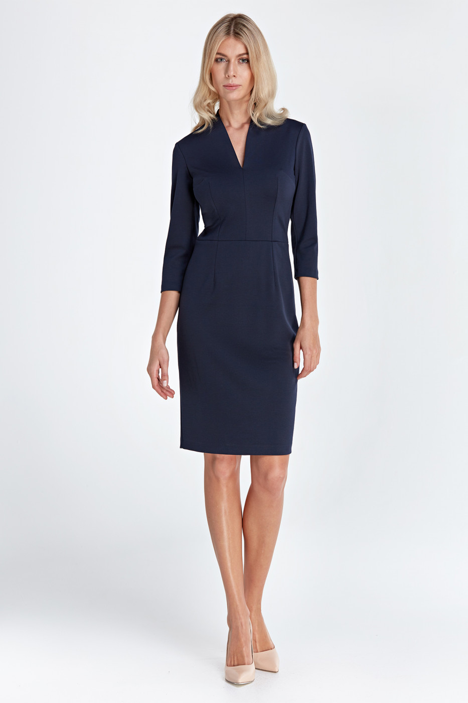 Colett Woman's Dress Cs01 Navy Blue