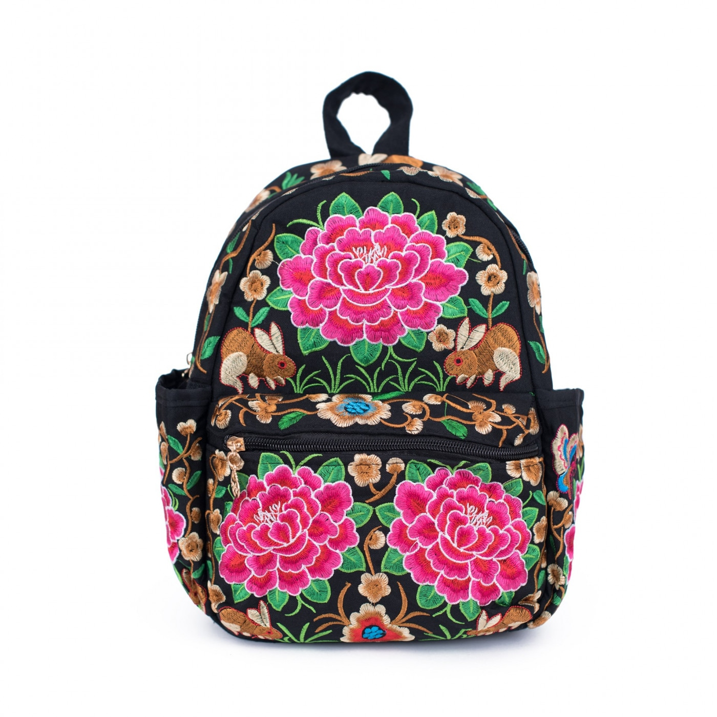 Art Of Polo Woman's Backpack tr18110 Black/Pink