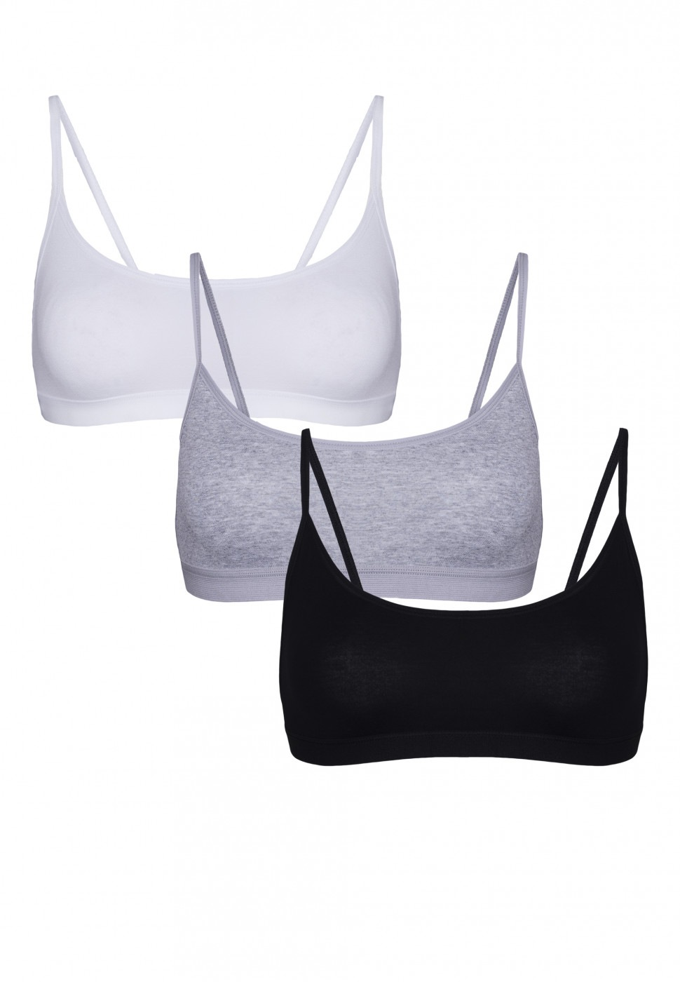 Eldar 3Packs Woman's Eldar 3Pack Top Sally Black/White/Light Grey