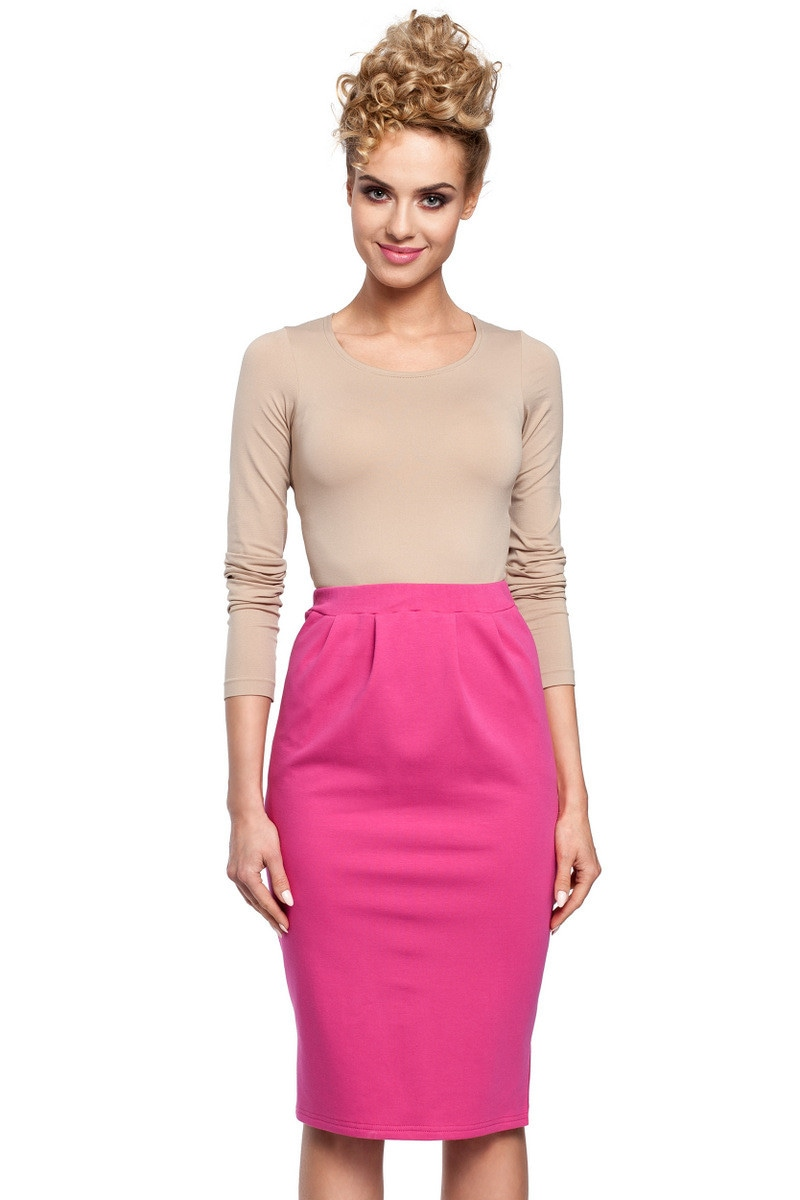 Made Of Emotion Woman's Skirt M288 Fuchsia