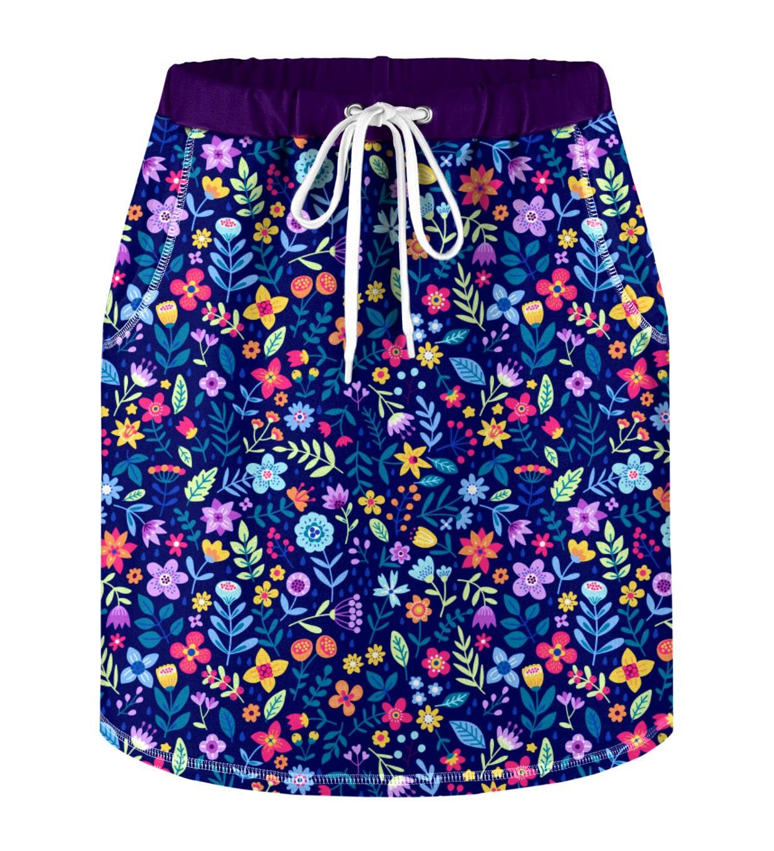 Mr. GUGU & Miss GO Woman's Skirt S-K-PC1649 Navy Blue