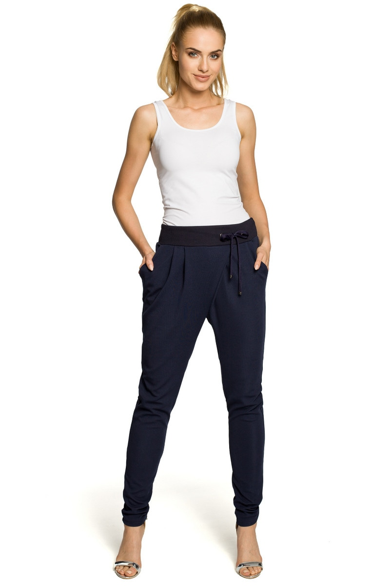 Made Of Emotion Woman's Pants M256 Navy Blue