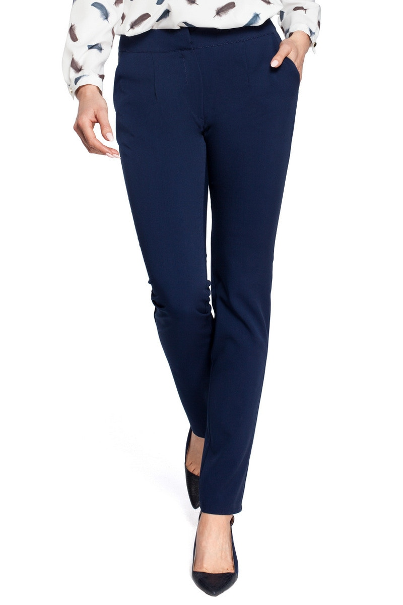 Made Of Emotion Woman's Pants M303 Navy Blue