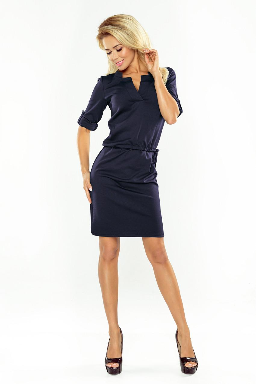 NUMOCO Woman's Dress 161-7 Navy Blue