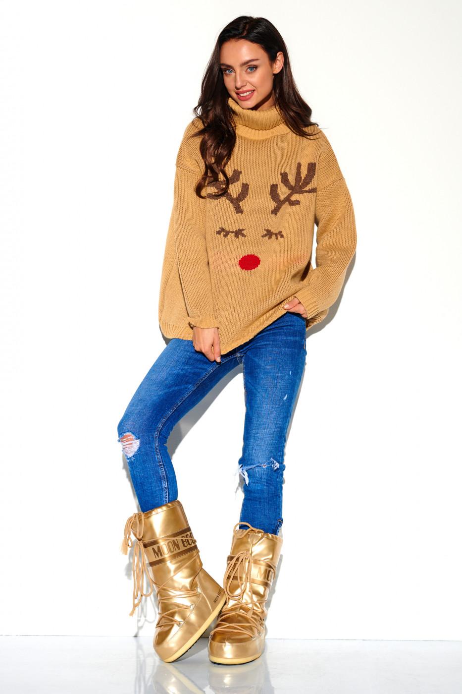 Lemoniade Woman's Sweater LS266 Camel
