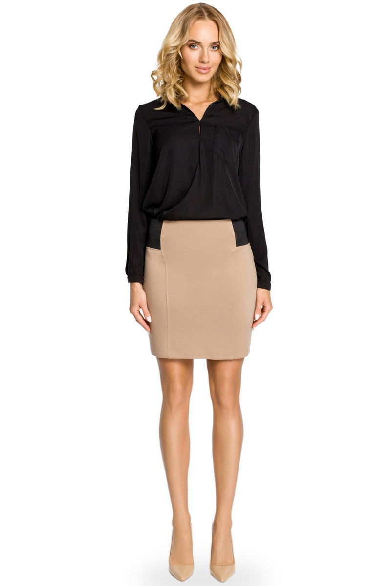 Made Of Emotion Woman's Skirt M042 Cappuccino