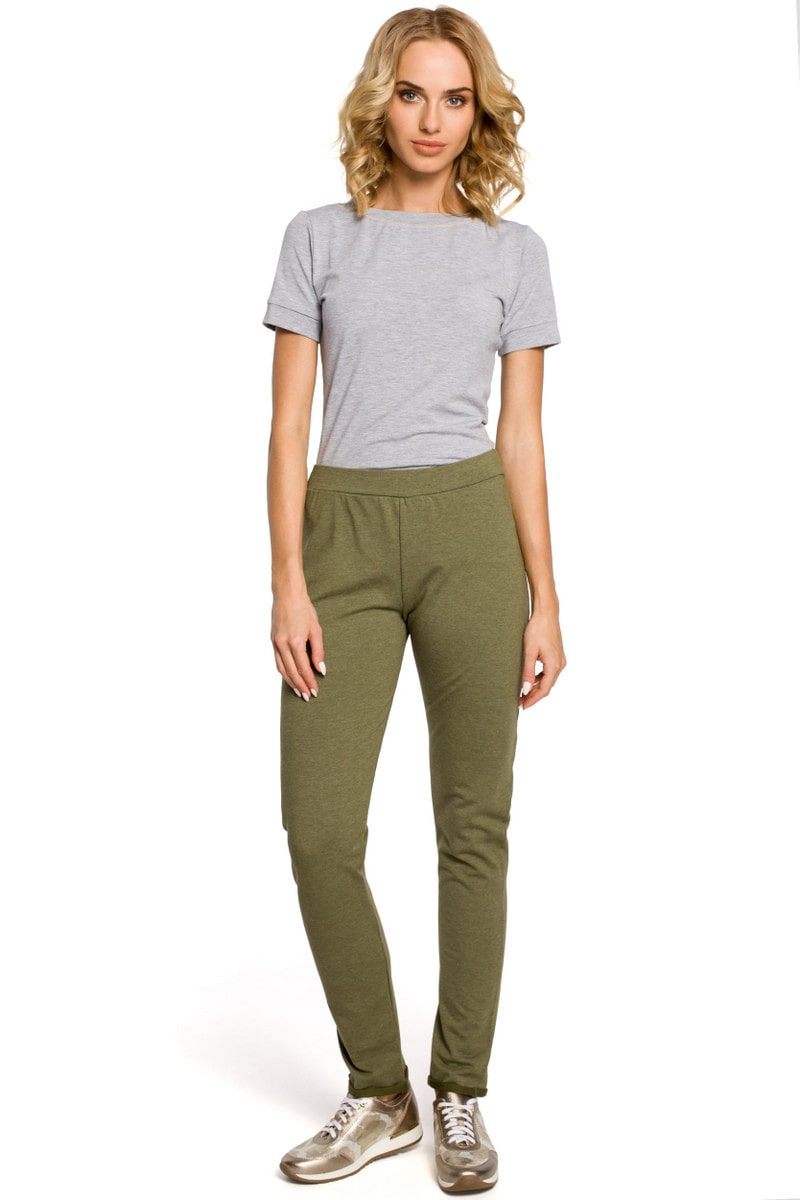 Made Of Emotion Woman's Trousers M055 Khaki