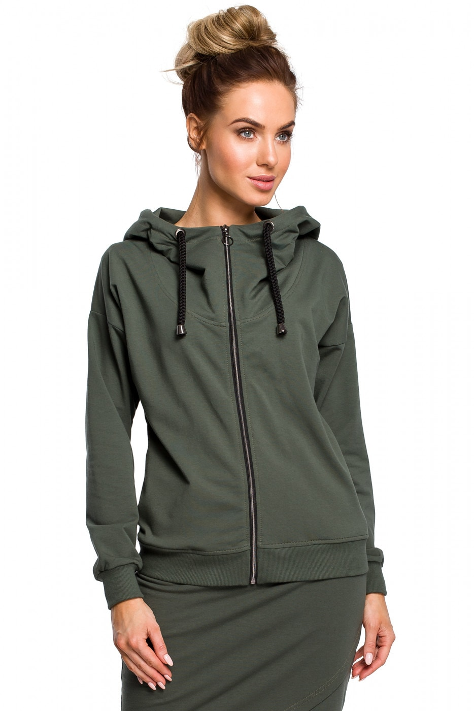 Made Of Emotion Woman's Sweatshirt M420 Military