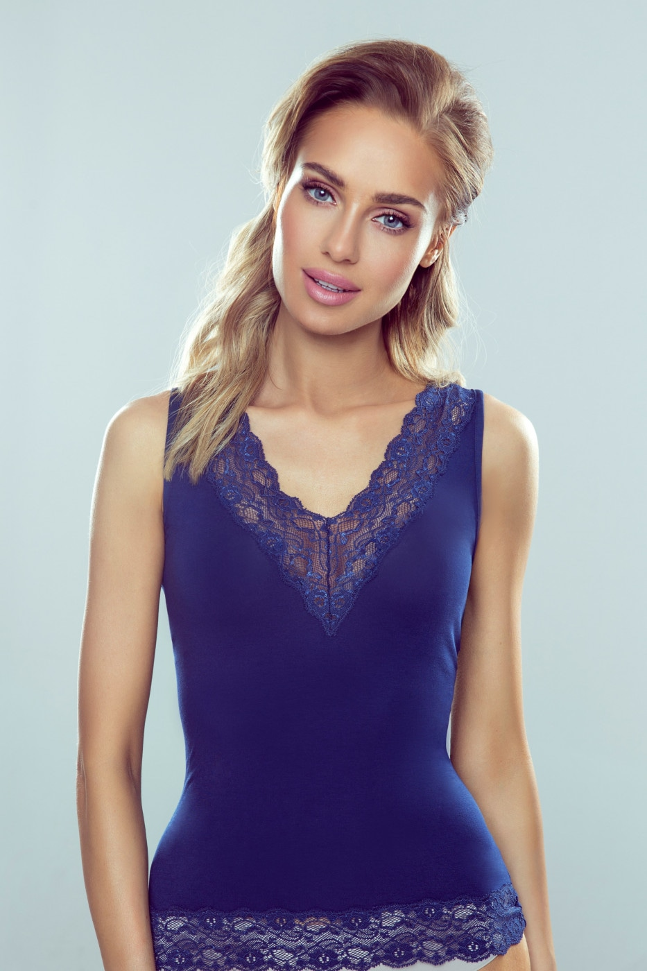 Eldar Woman's Camisole Lexie Navy Blue