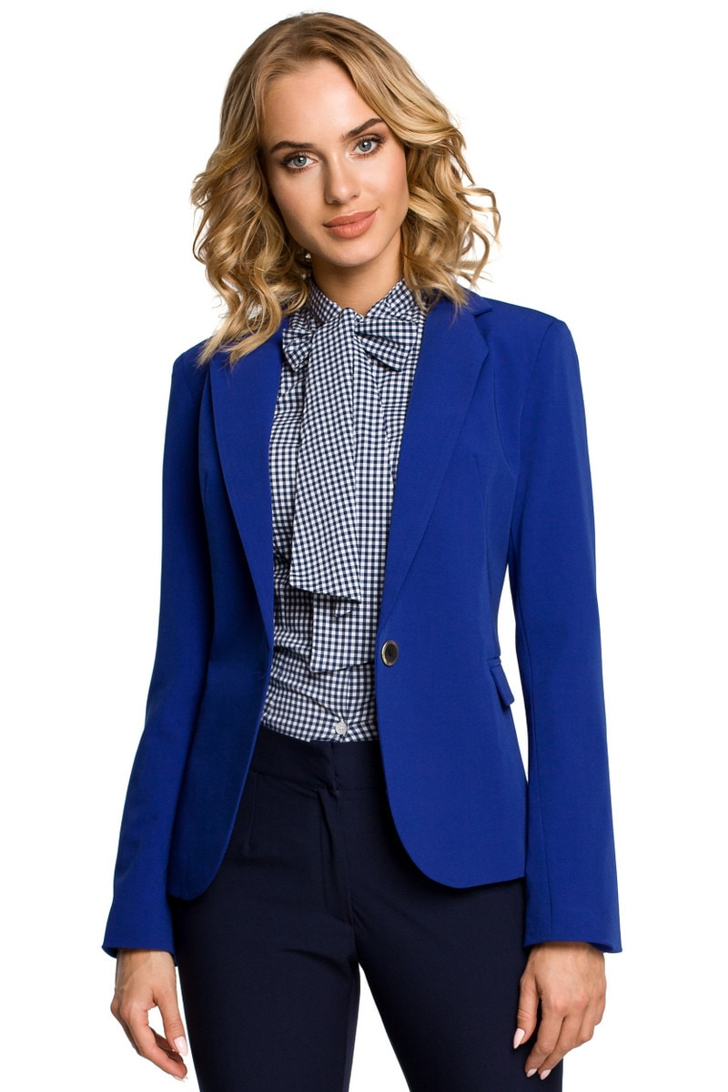 Made Of Emotion Woman's Jacket M051 Royal