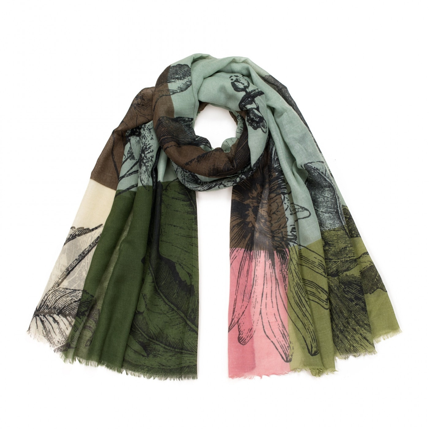 Art Of Polo Woman's Scarf sz18593 Olive