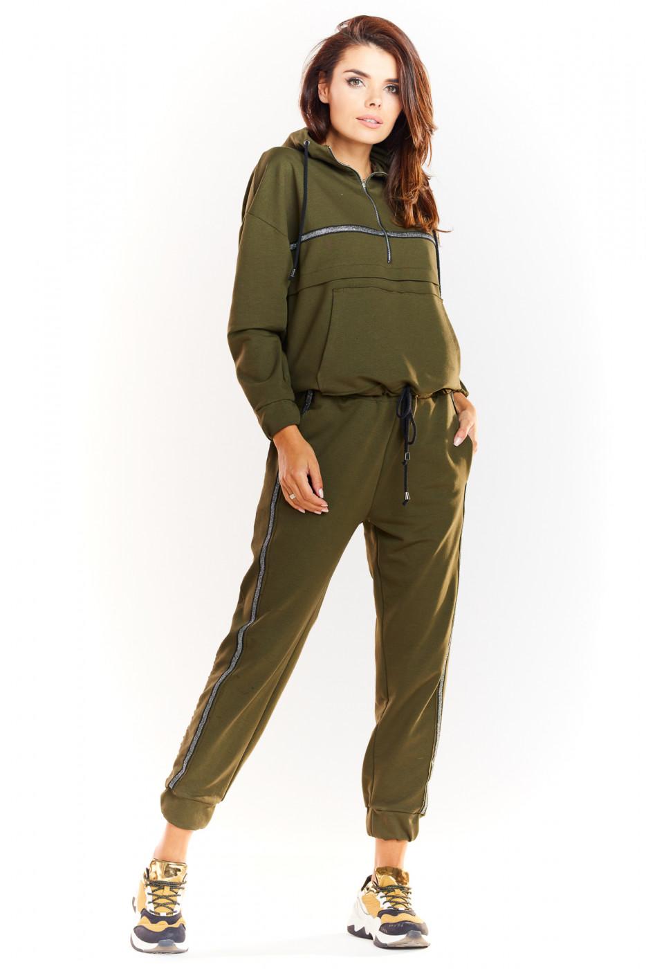 Infinite You Woman's Pants M231 Khaki