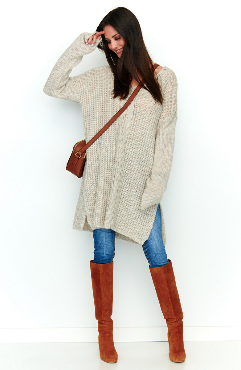 Numinou Woman's Sweater Nu S53  Melange