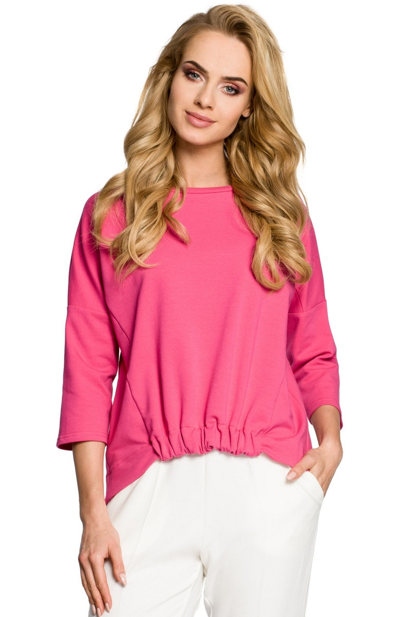 Made Of Emotion Woman's Top M315 Fuchsia