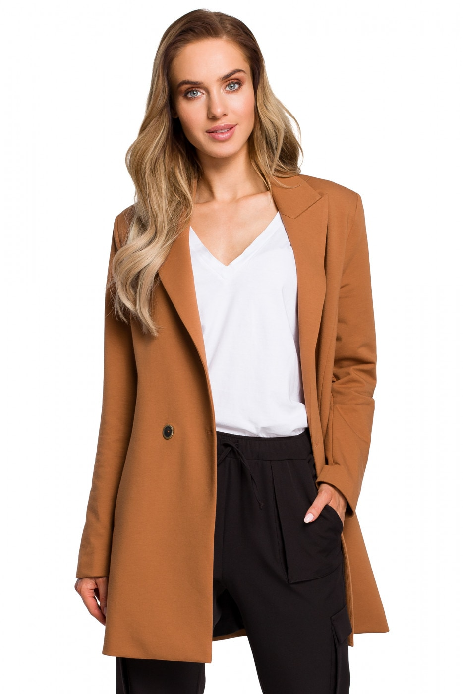 Made Of Emotion Woman's Jacket M429 Caramel