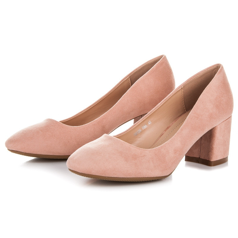 FAMA SUEDE PUMPS ON THE POST