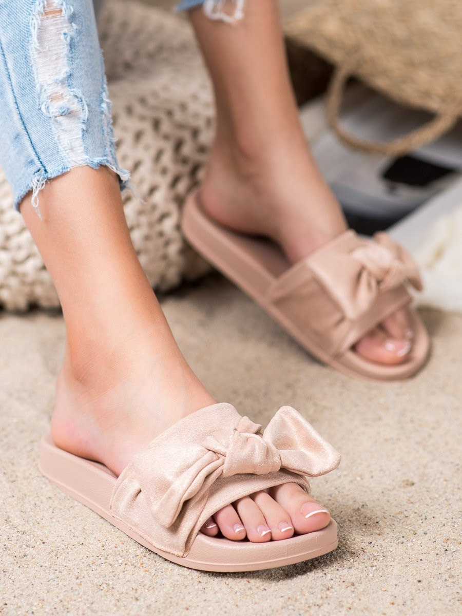 Women's slippers VINCEZA Bow detailed