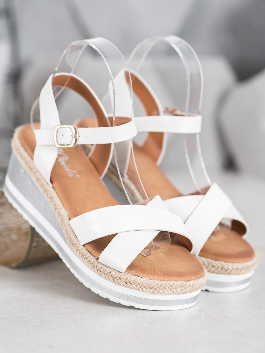 WEIDE WHITE COWS OF ECO LEATHER