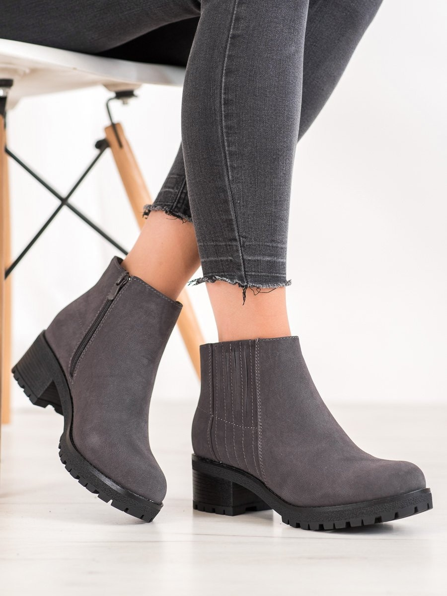 J. STAR CLASSIC GREY ANKLE BOOTS