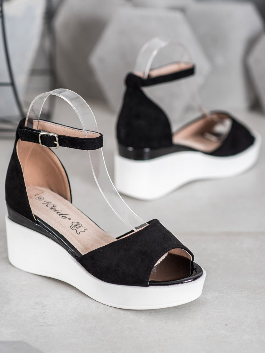 WEIDE SUEDE SANDALS ON WHITE CO-ORDER