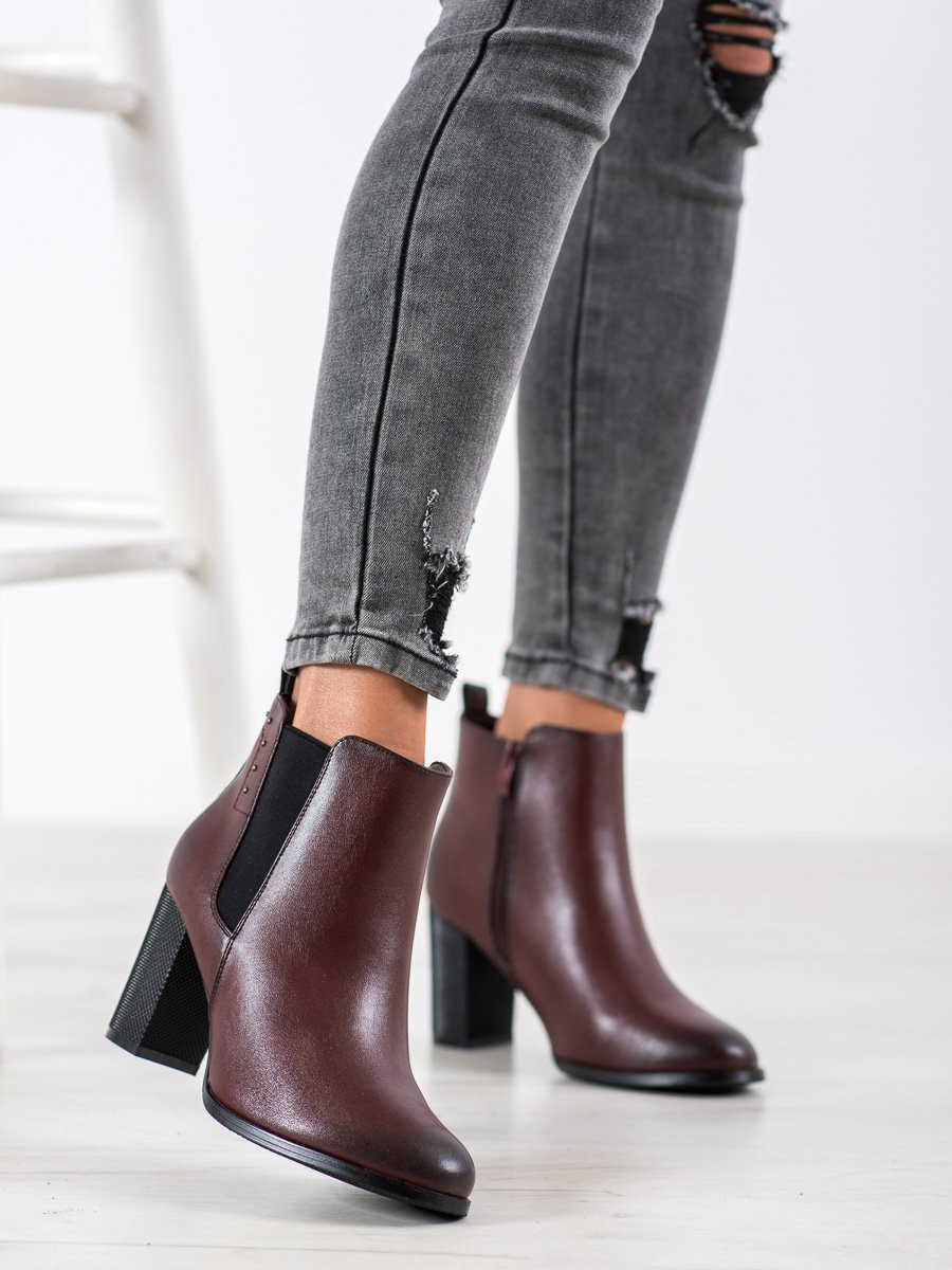 SHELOVET ANKLE BOOTS WITH DECORATIVE HEEL