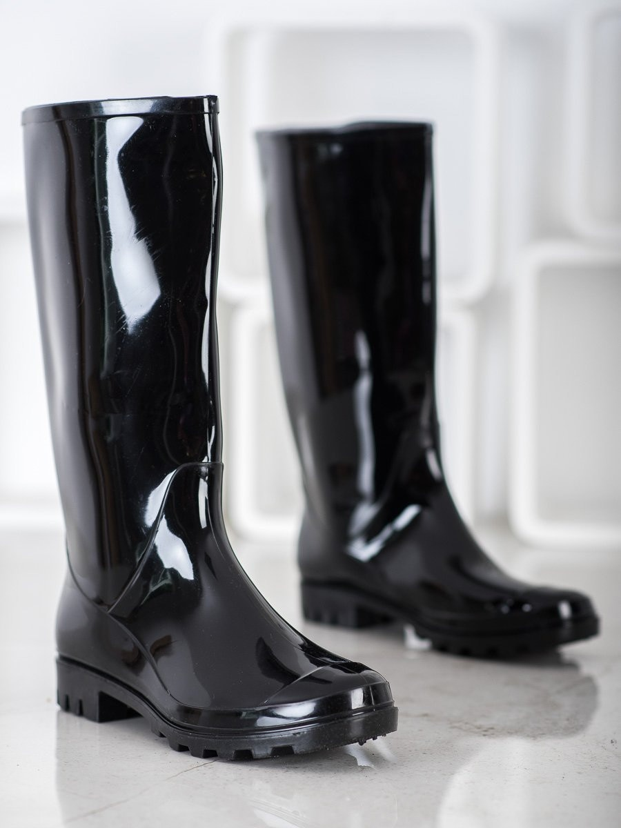 BONA HIGH BLACK RAIN BOOTS
