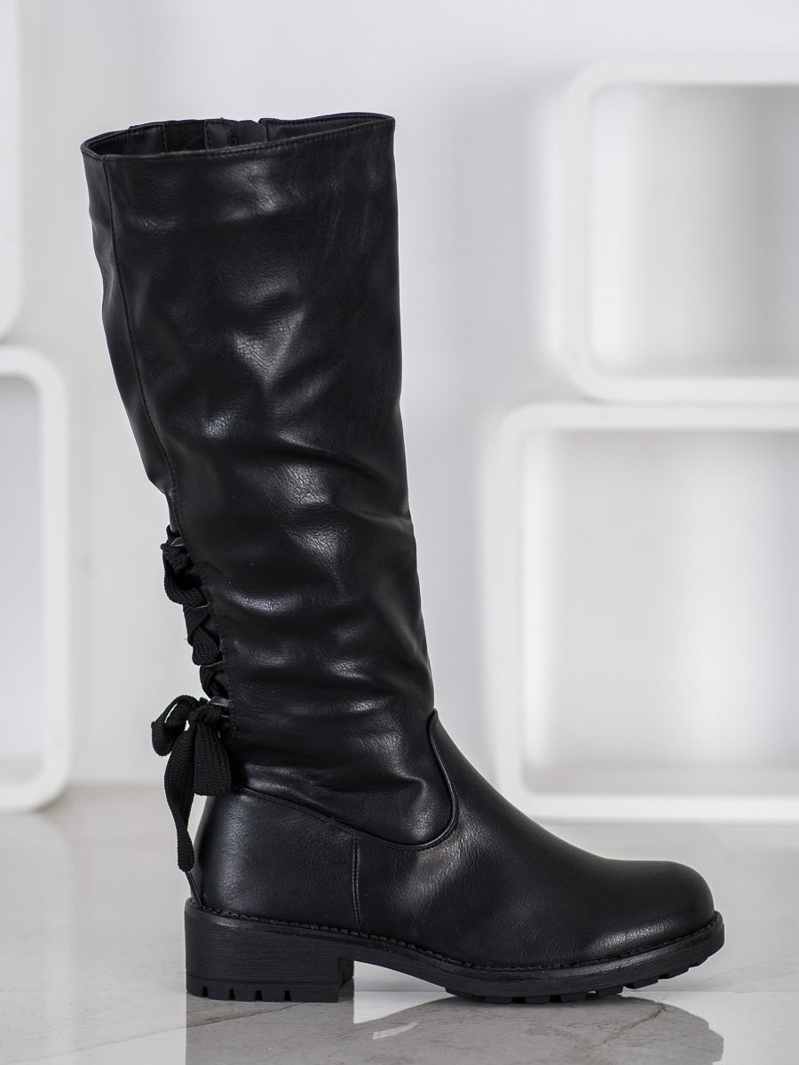 J. STAR LACE-UP BOOTS