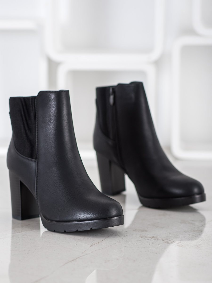 J. STAR STYLISH HEELED ANKLE BOOTS