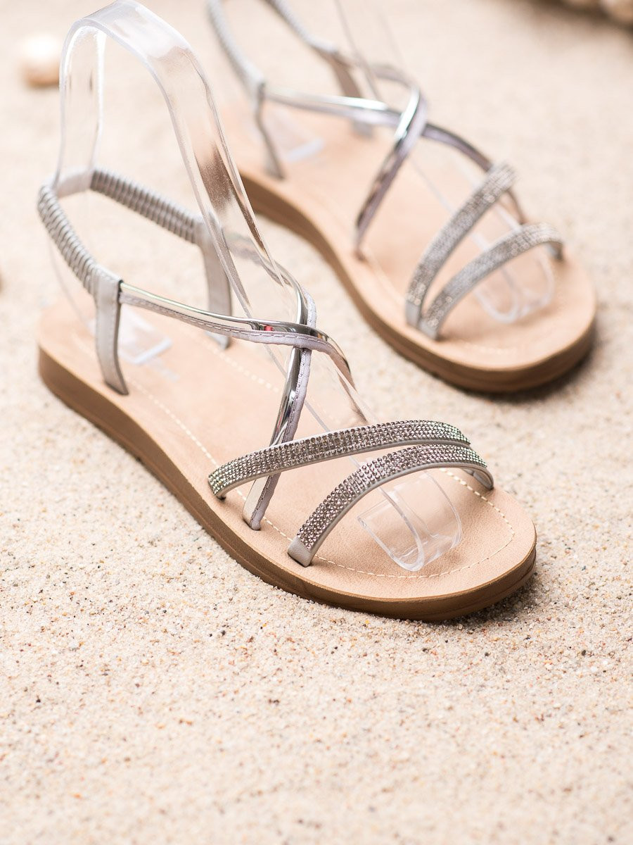 SEA ELVES SANDALS WITH SILVER ORNAMENTS
