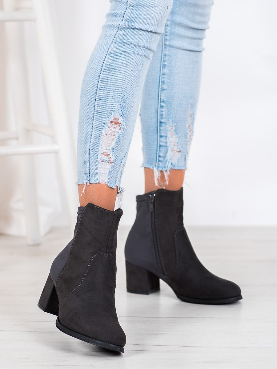 J. STAR GREY ANKLE BOOTS