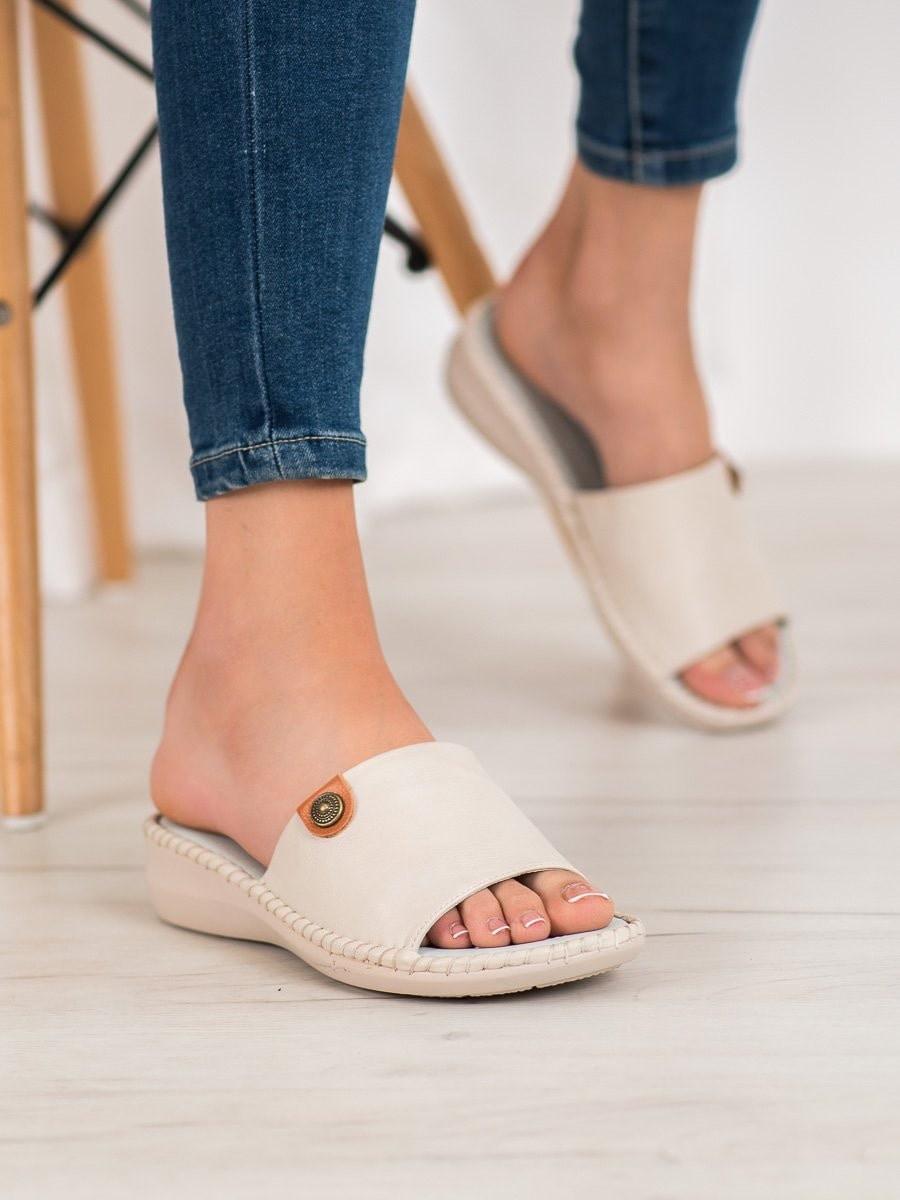 J. STAR CASUAL ECO LEATHER FLIP-FLOPS