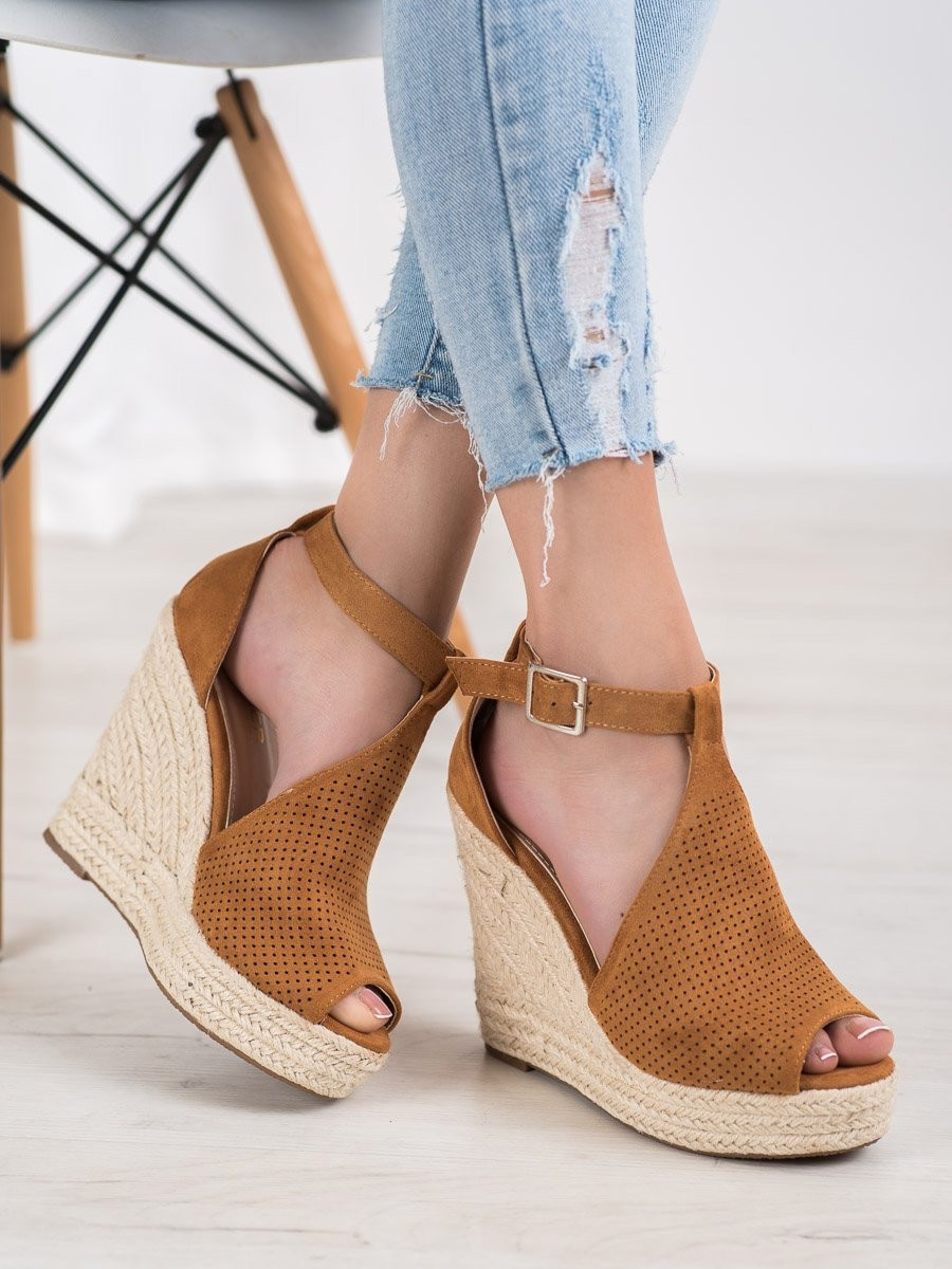 SHELOVET OPENWORK SANDALS ON THE CO-CAKE