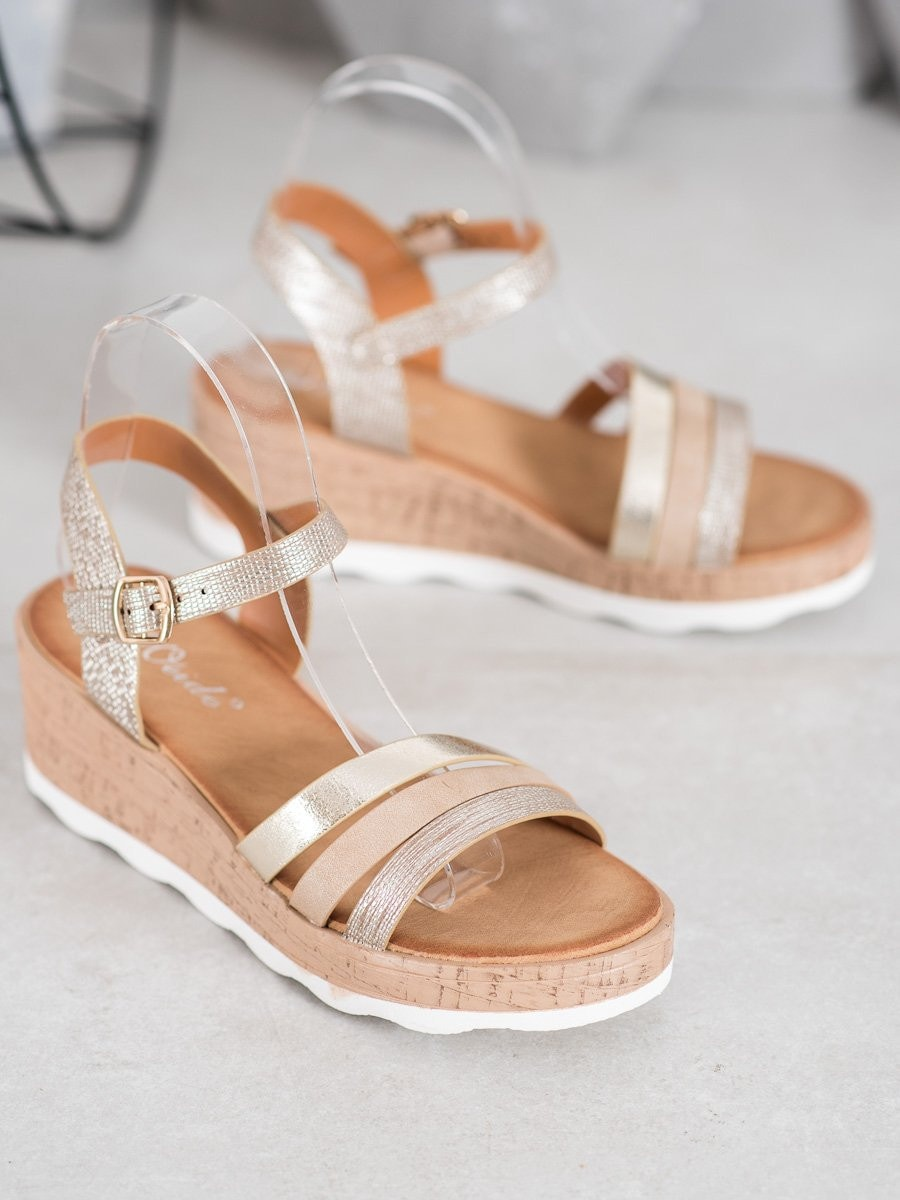 WEIDE GOLDEN SANDALS ON THE CO-STAR