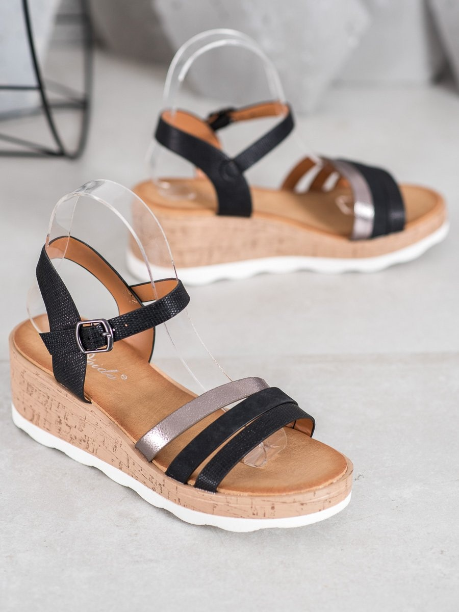 WEIDE BLACK SANDALS ON THE CO-FRIN
