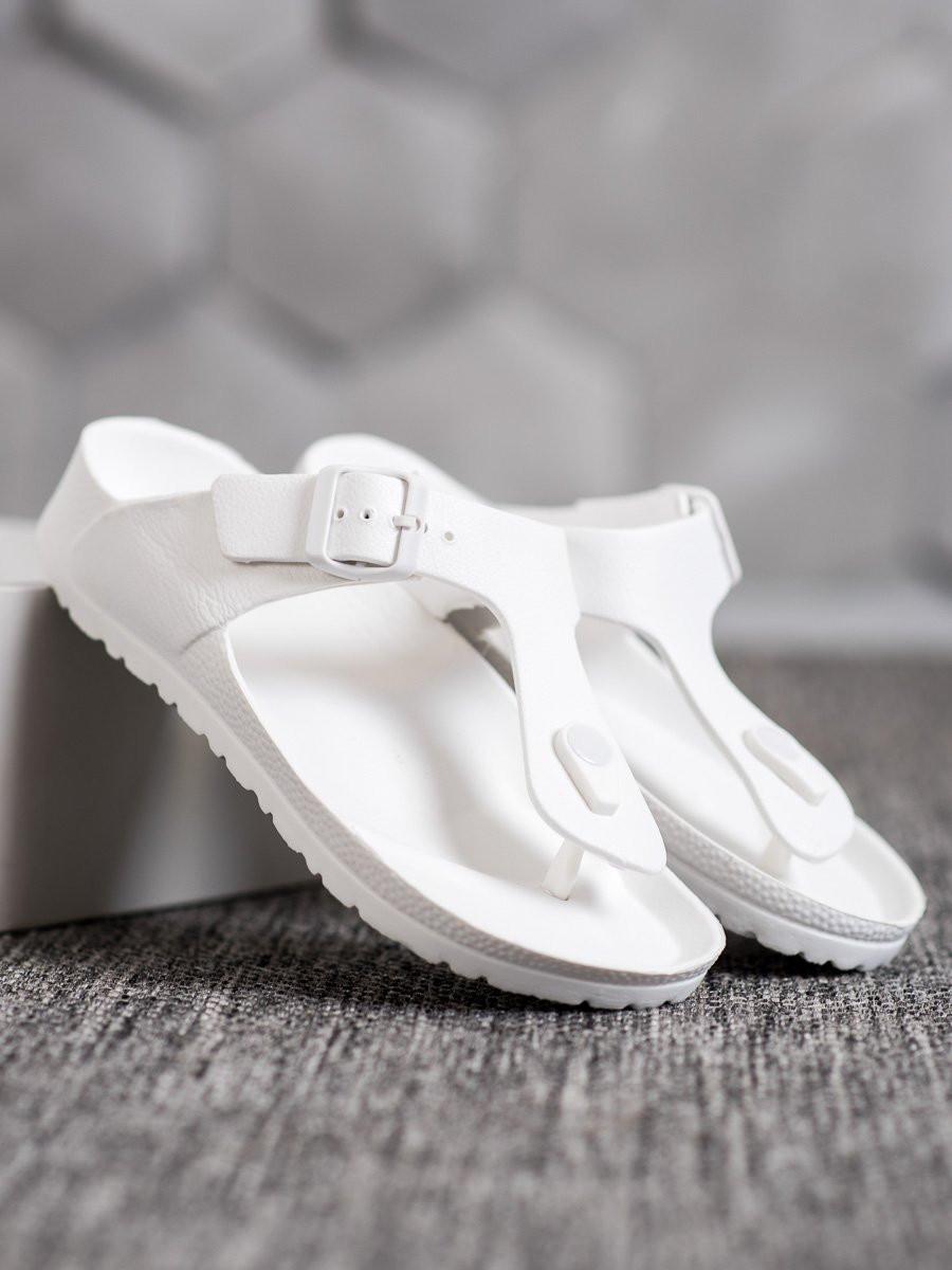 SHELOVET WHITE FLIP FLOPS