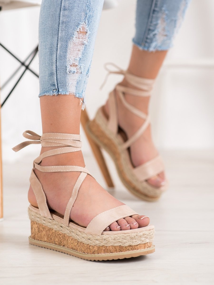 SEASTAR TIED SANDALS FROM SUEDE