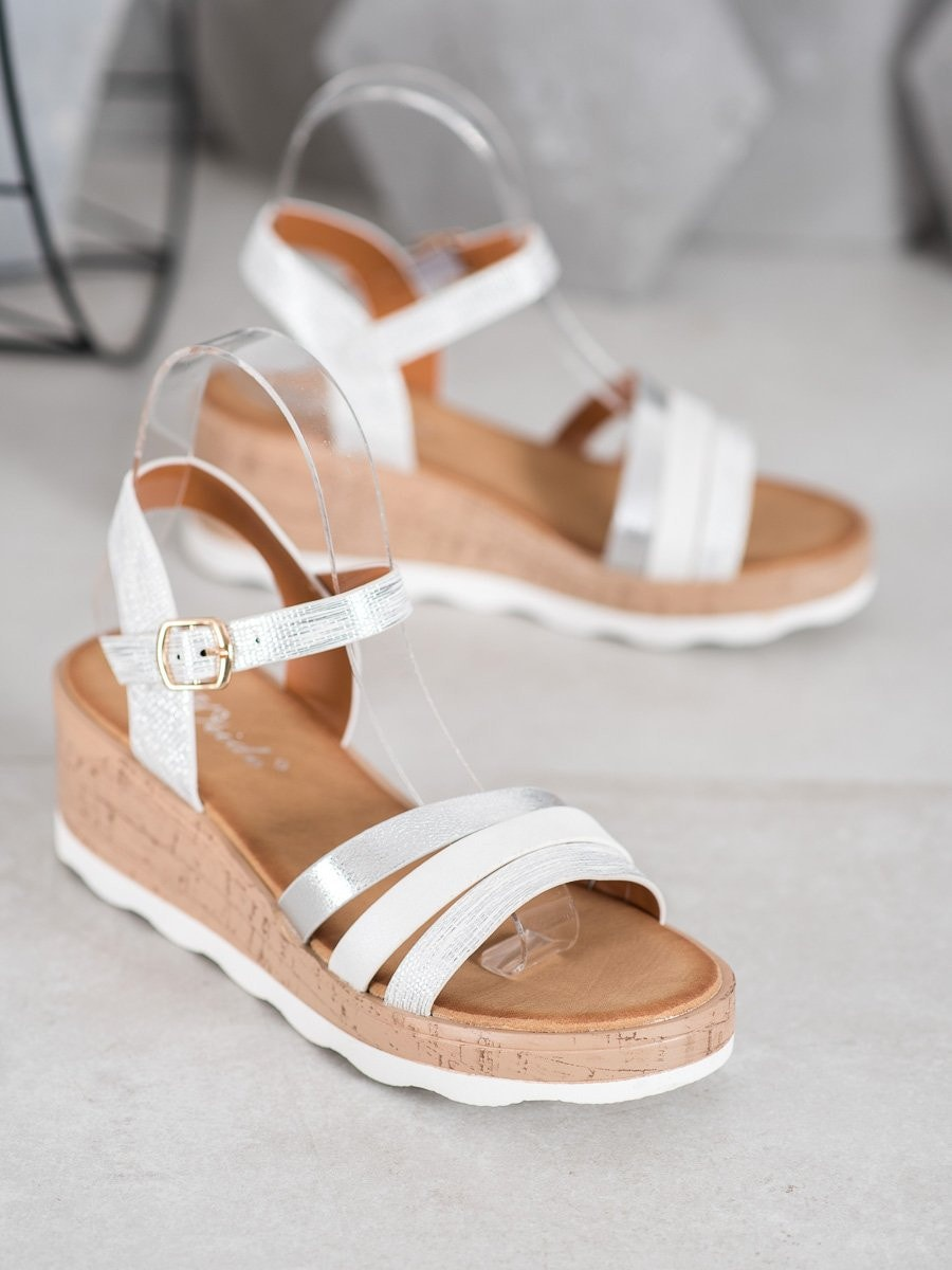 WEIDE SILVER SANDALS ON THE CO-TURN