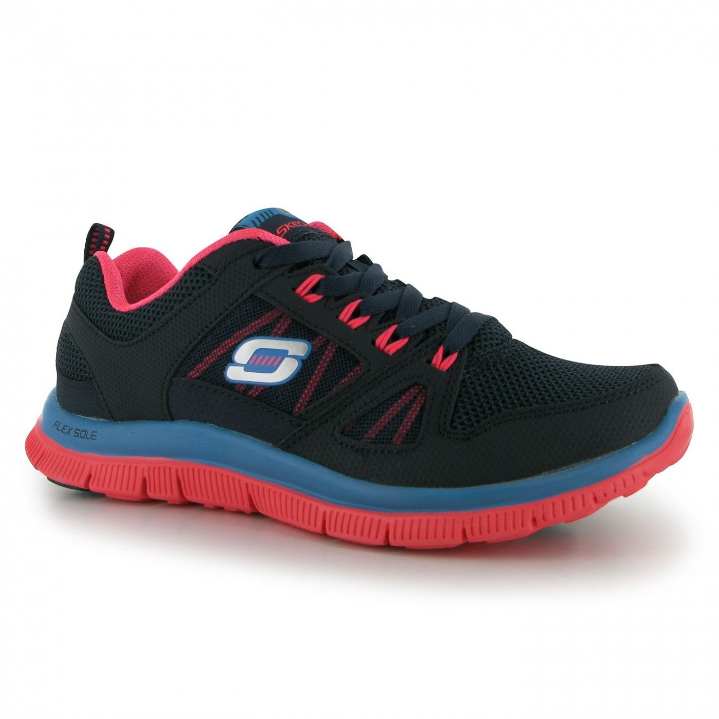 440c4db21a1 Skechers Flex Appeal Spring Fever Ladies Trainers - FACTCOOL