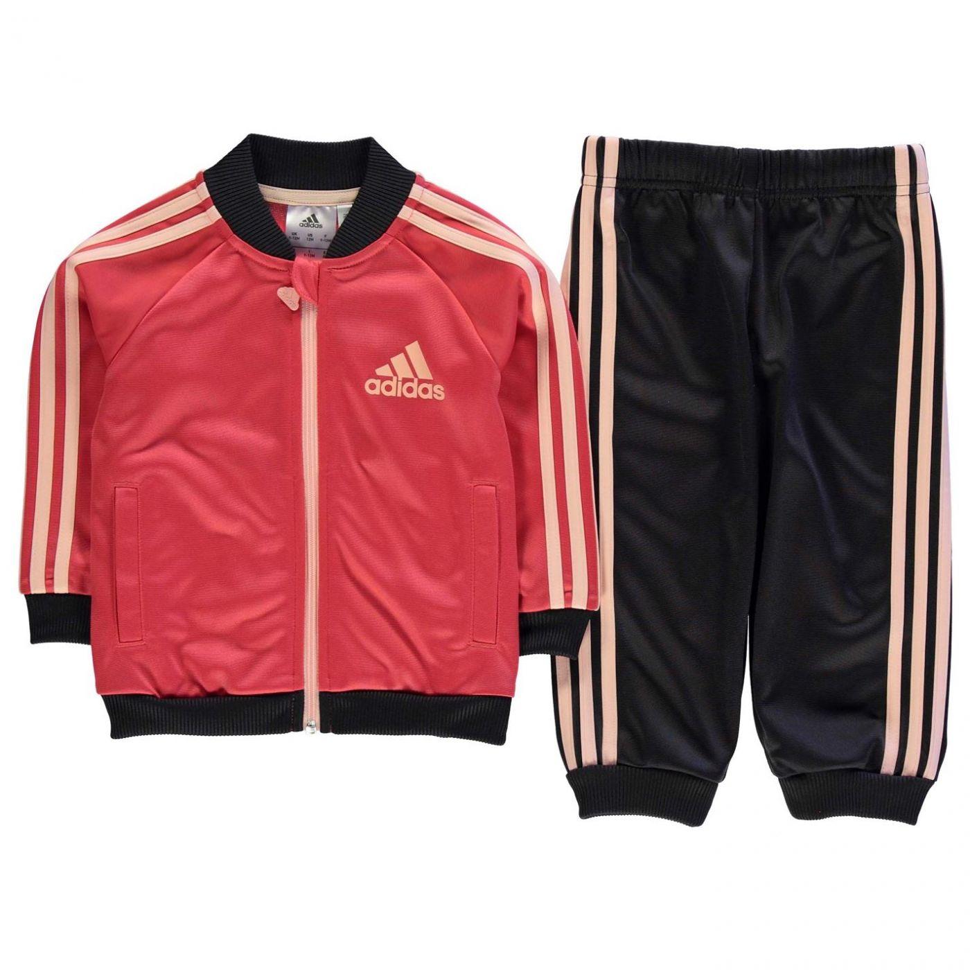 c88348fc9b adidas 3 Stripe Poly Tracksuit Infants Girls - FACTCOOL