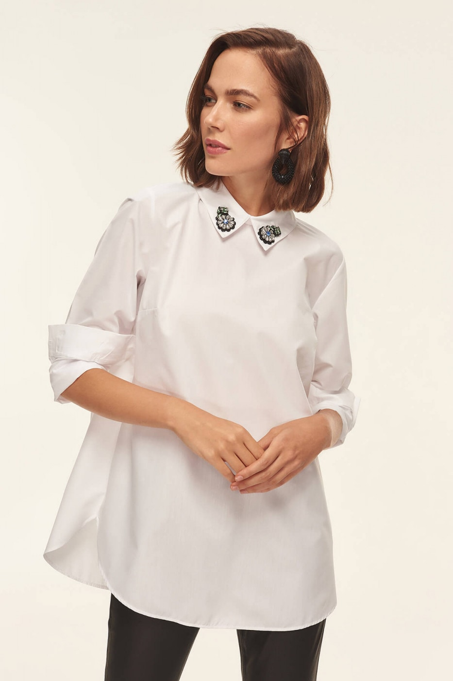 357d56055 Trendyol White Accessories Detailed Tunic - FACTCOOL
