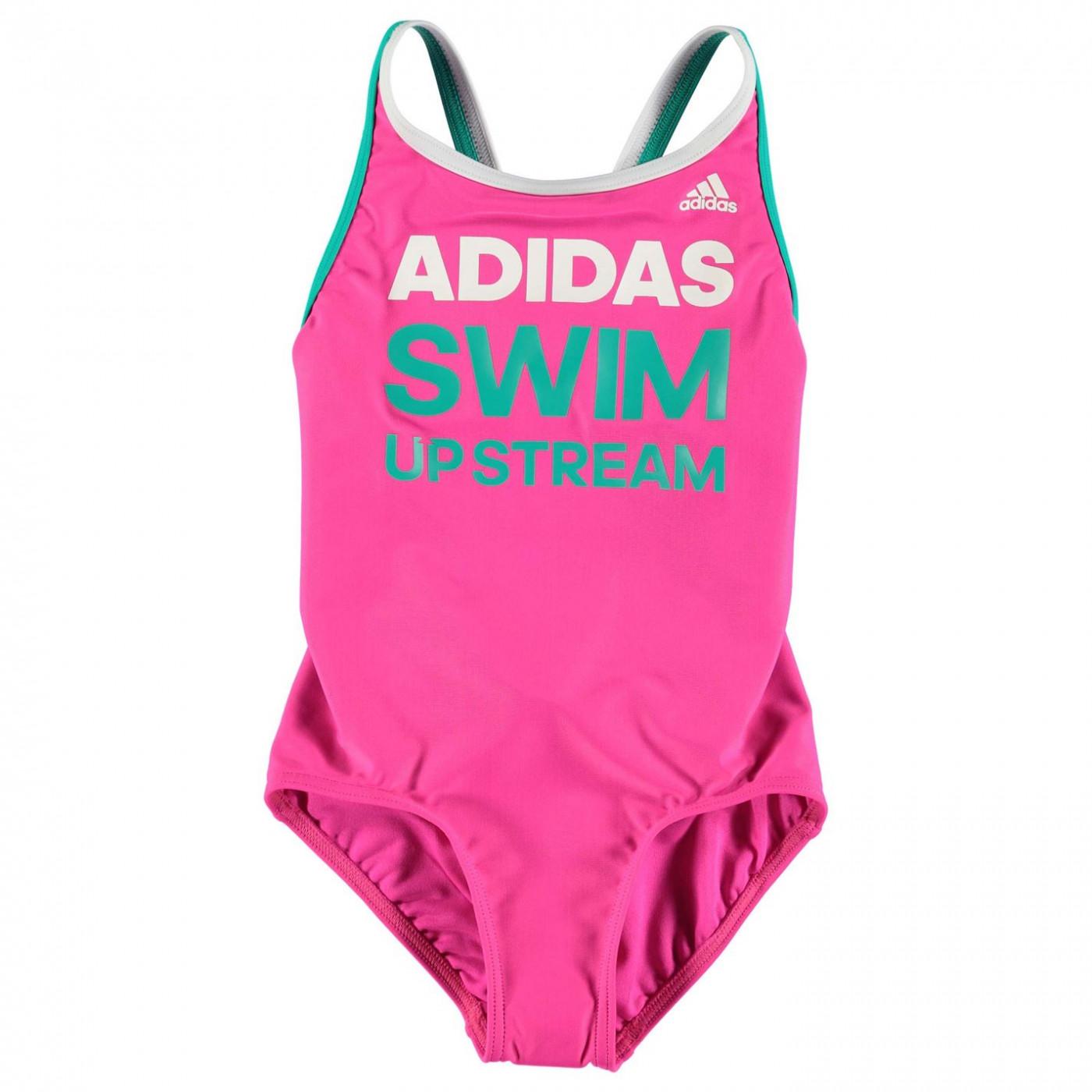 5fda0346c adidas Slogan Swimsuit Junior Girls - ALIATIC