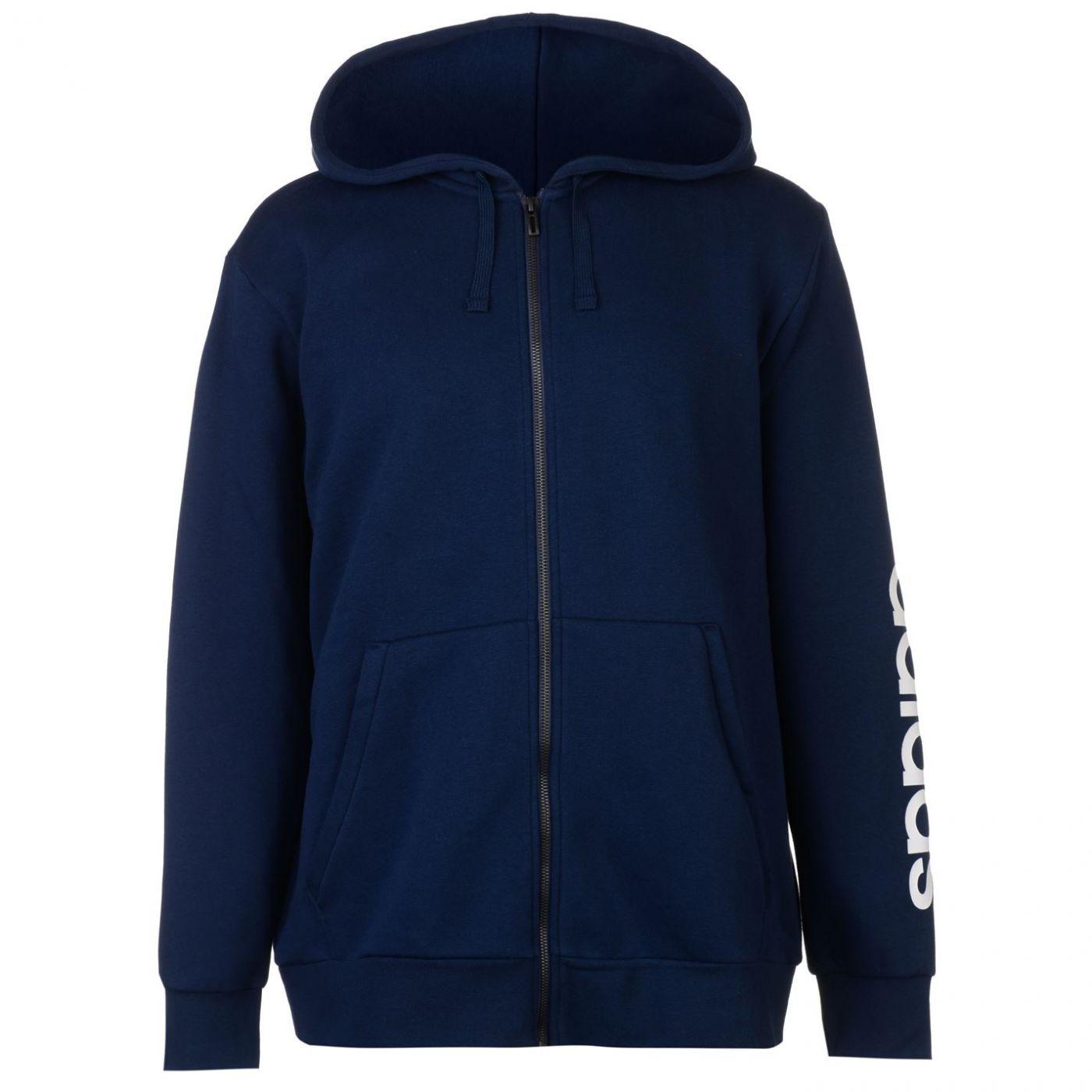 67e009bbb mikina adidas Linear Logo Full Zip Hoodie pánská - FACTCOOL