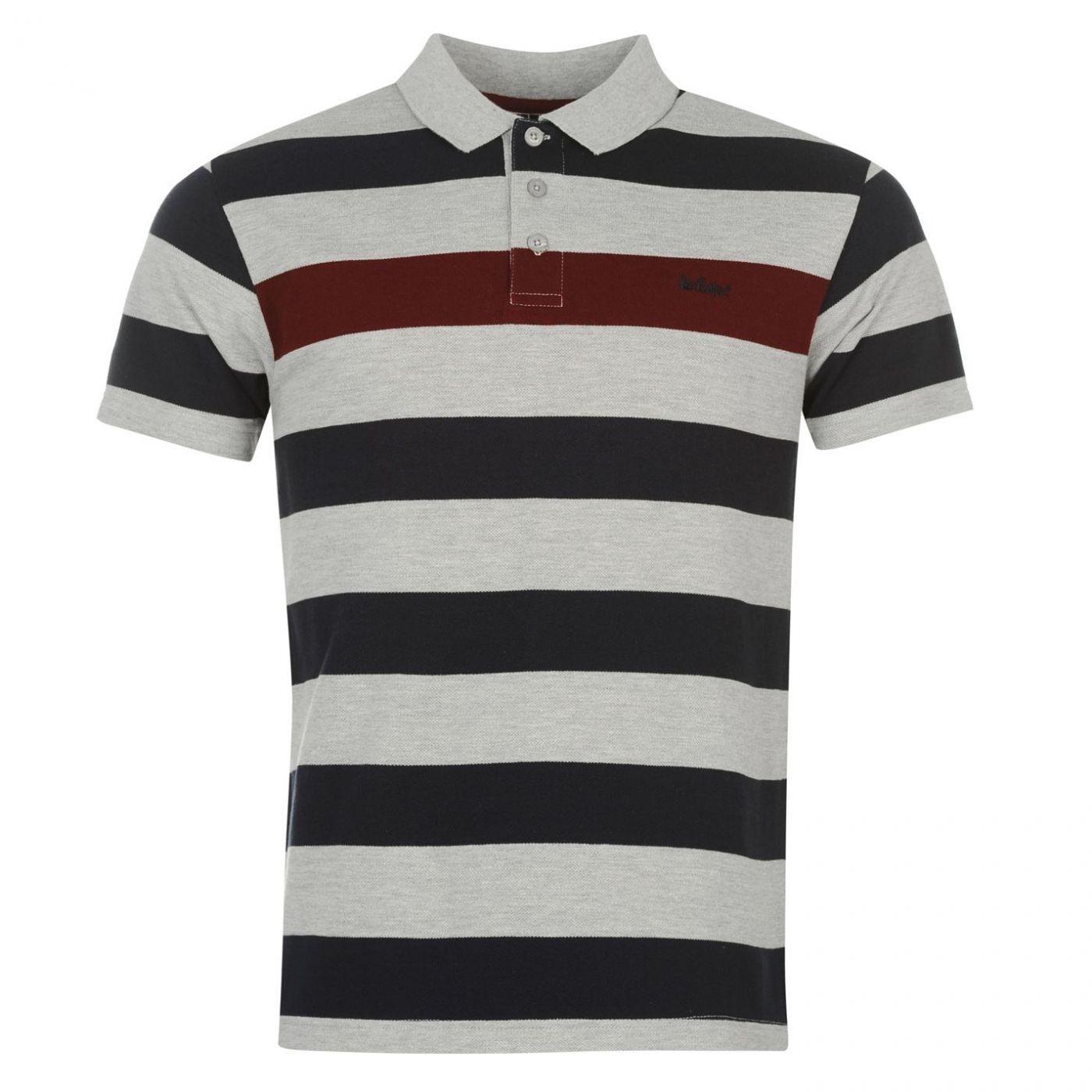e5f33d7708fb Lee Cooper Stripe Polo Shirt Mens - FACTCOOL