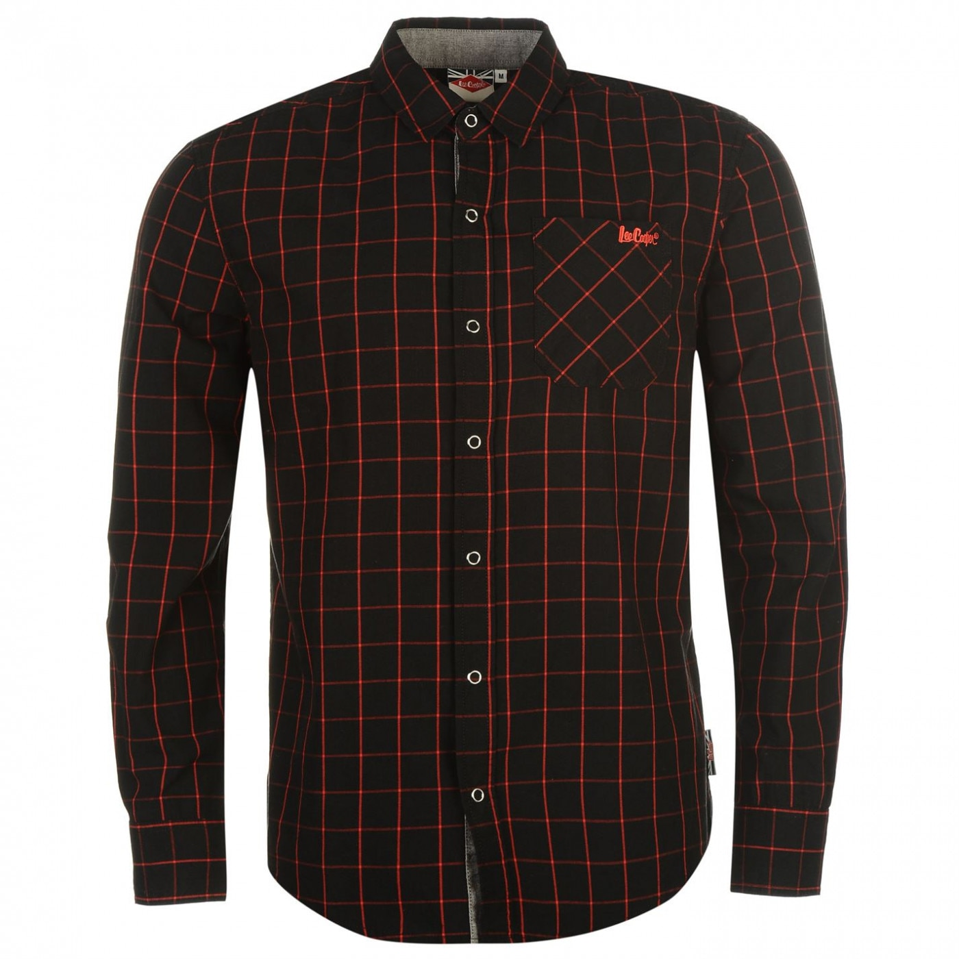 9ff0f25d440a Lee Cooper Long Sleeve Fashion Check Shirt Mens - FACTCOOL