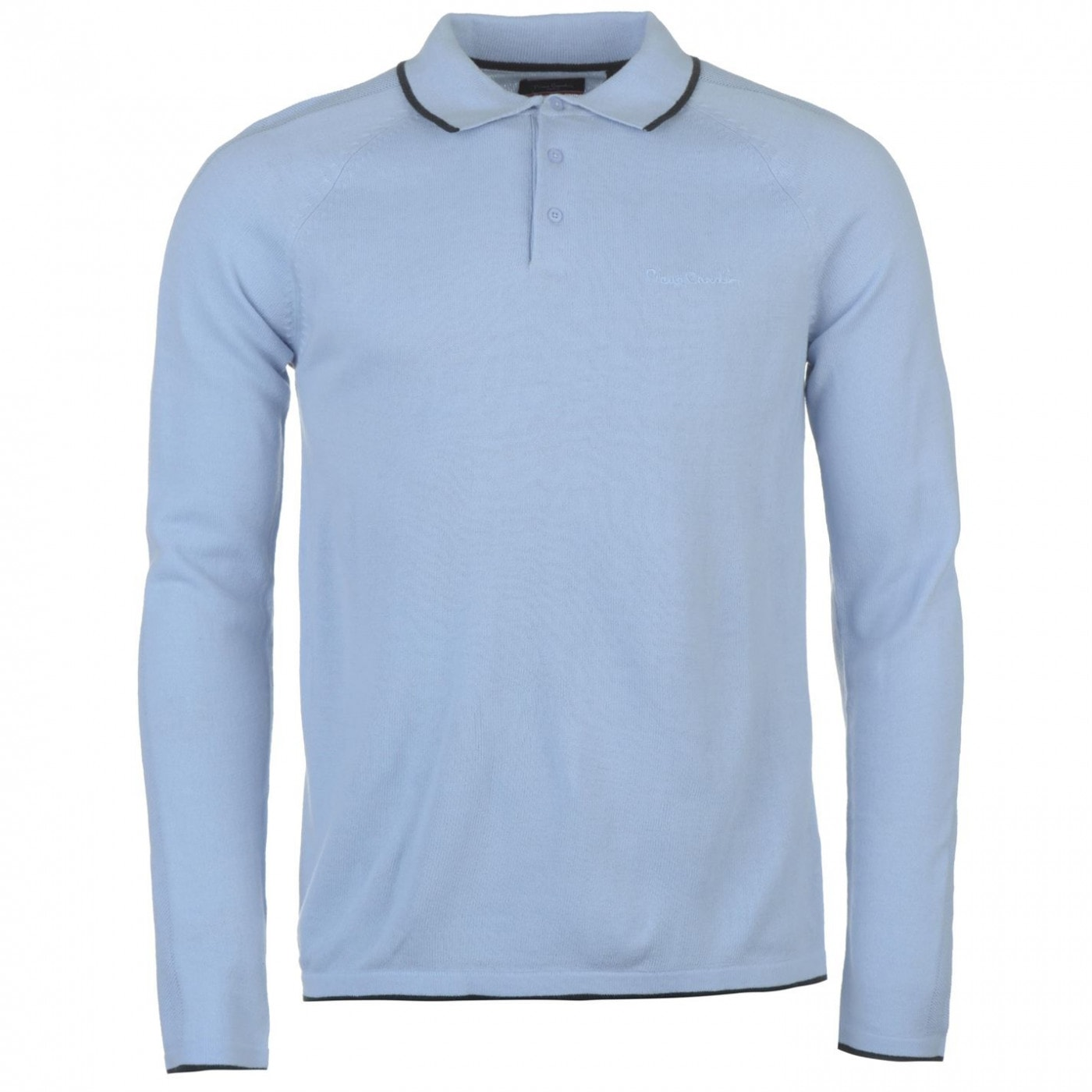 63e8d985ed1a Pierre Cardin Knitted Long Sleeve Polo Mens - ALIATIC