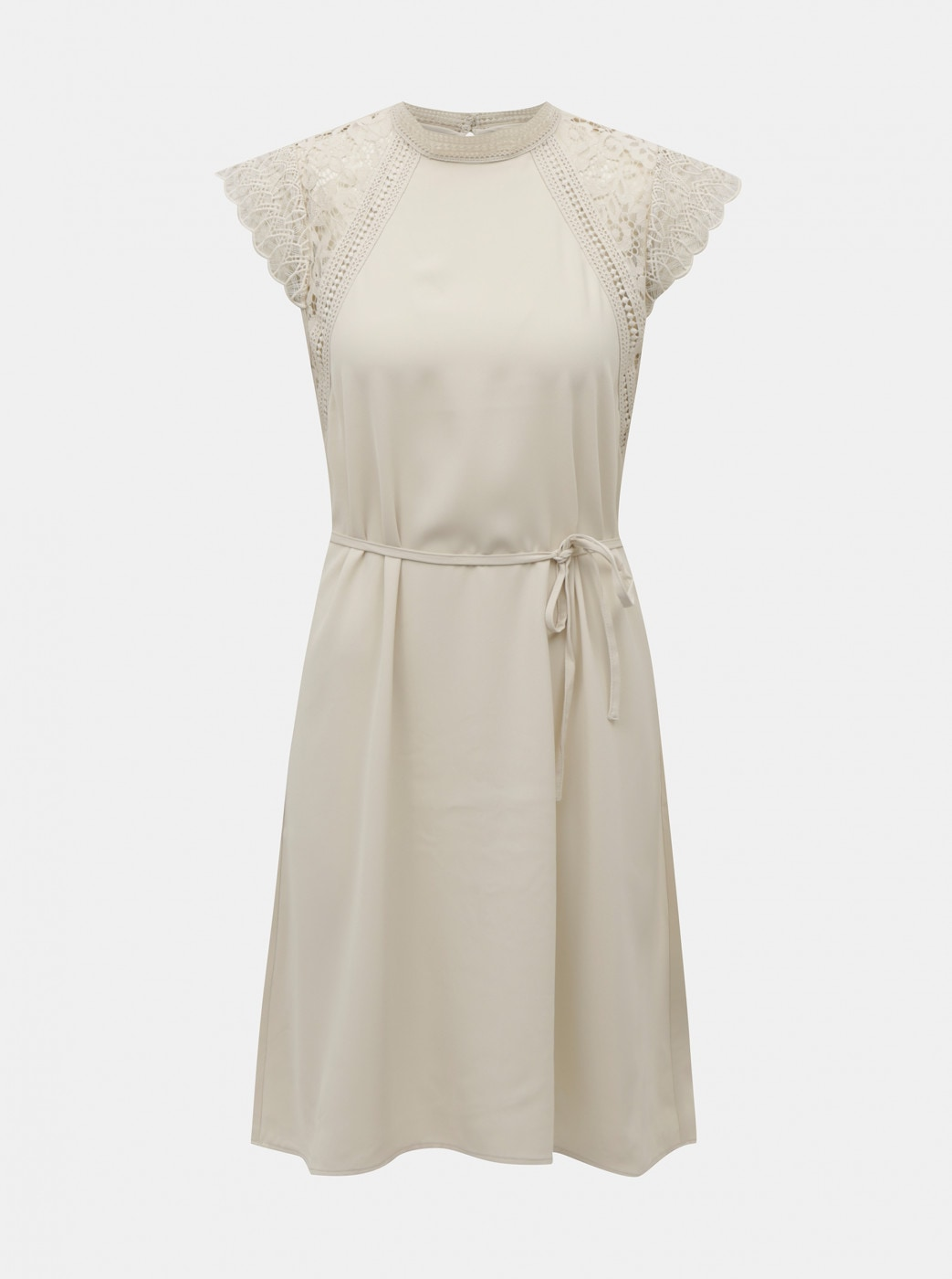 Cream dress with lace VERO MODA Povla