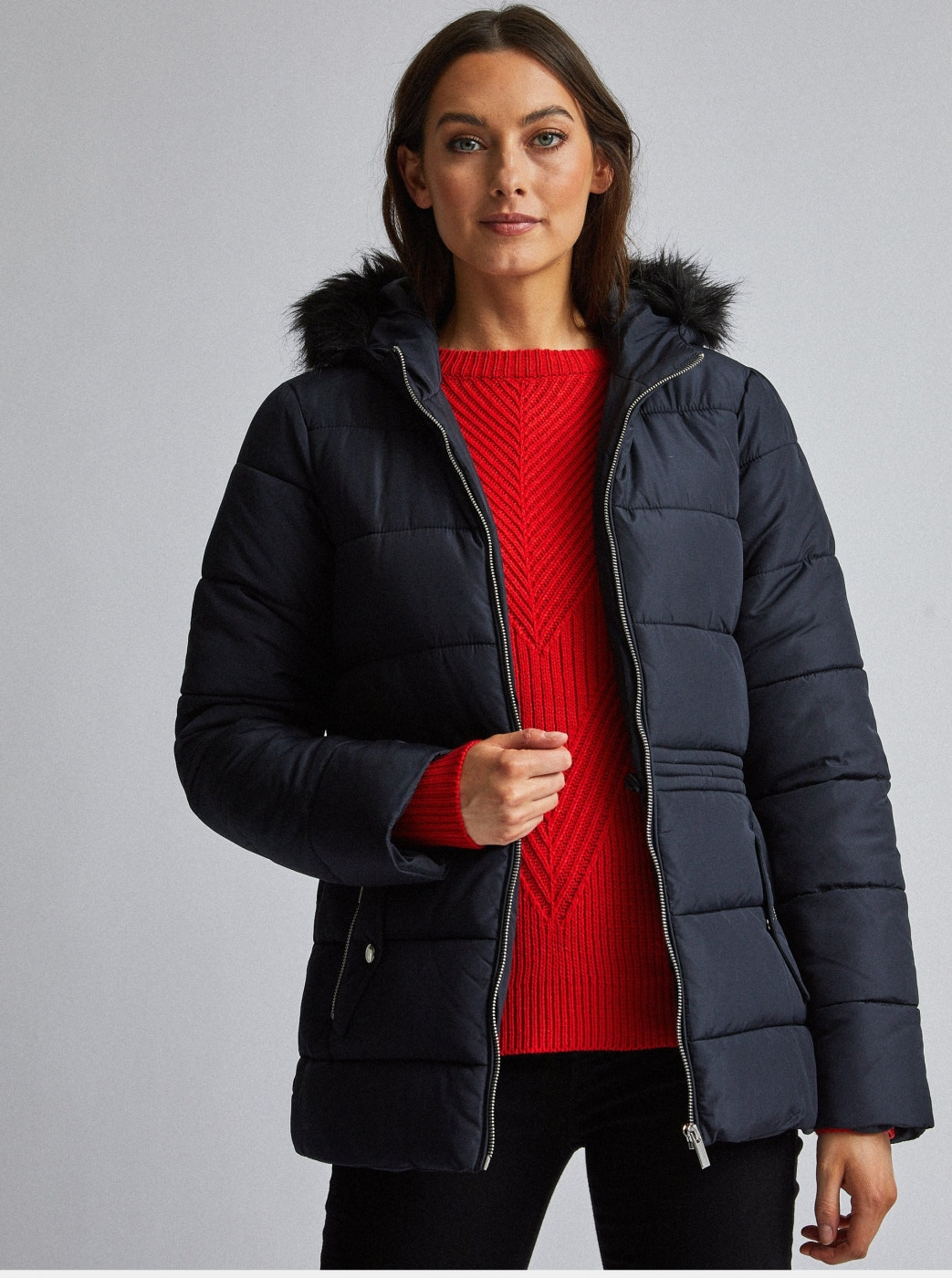 Dorothy Perkins Dark Blue Quilted Jacket