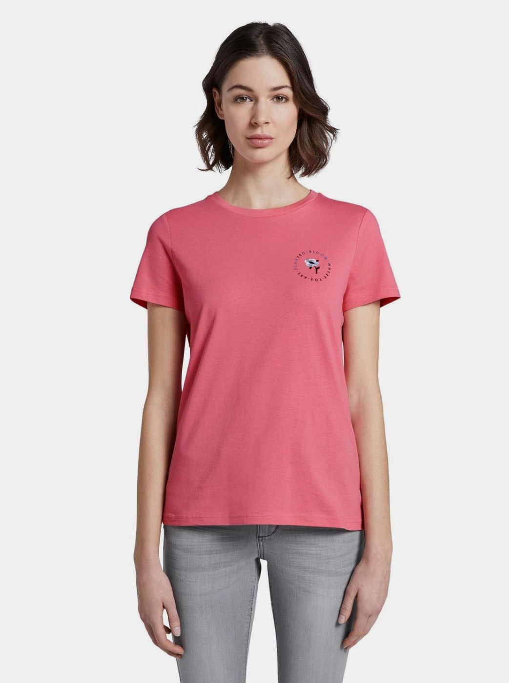 Tom Tailor Printed Pink Women's T-Shirt